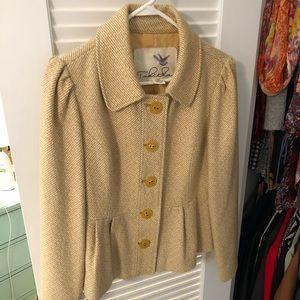 NEW Tabitha Anthropologie gold mustard jacket